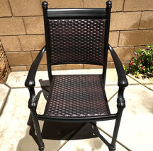 Outdoor Chairs Set Of 2 Cast Aluminum Patio Furniture Dining Wicker Balcony image 3