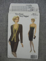 Misses Size 6-10 Petite Jacket and Dress Evening wear  Vogue 8512  UC FF  - $10.00