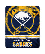 Buffalo Sabres Blanket 50x60 Fleece Fade Away Design Special Order**Free... - $24.00