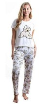 Dog Doodle Beige pajama set with pants for women Poodle - $35.00