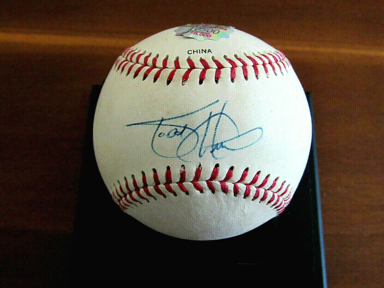 Primary image for TODD HELTON BATTING CHAMP ROCKIES SIGNED AUTO VTG L/E BASEBALL HIDDEN AUTHENTIC