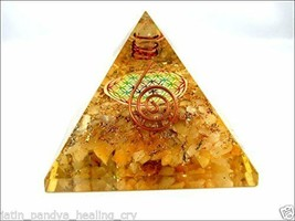 Jet Golden Quartz Flower of Life Orgone Pyramid Christmas Tower Buster P... - $28.49