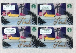 Starbucks Florida Pool Resort Lounge Chair 2016 Gift Card Lot of 4 NO VALUE - $9.79