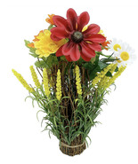 Artificial flowers 11 H DAISY IN TWIG STACK. - £35.90 GBP