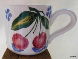 "Ancora Italy Mug Fruit Cherry Cherries and Blue Flowers 3.5"" - $12.00"