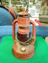 "Vintage Primative DIETZ Railroad Lantern N.Y. USA...""RUBY RED"" Globe....... - $46.53"