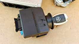 03-05 Mercedes Benz E320 C320 C32 ECU EIS Engine Computer Key Set A1121536679 image 2