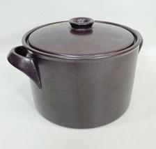 Vintage Gustavsberg Pot Brown 8 Terma Flameldfast Sweden Casserole Dish - $35.63