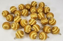 "Vintage Gold Satin Ornaments chenille hooks 1 1/4"", lot of 29  - $24.99"