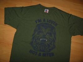 Chewbacca Junk Food T-Shirt - Star Wars Wookiee Liebhaber Not A Biter Grün L - $21.68