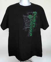 Harley Davidson Woodstock NY Rainbow Peace Sign Leprechaun Logo T Shirt ... - $24.70