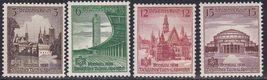 1938 Breslau Sports Festival Set of 4 Germany Stamps Catalog Number 486-89 MNH