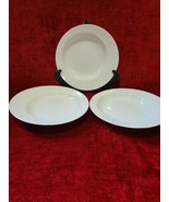 "Rosenthal Asymmetria White Set of 3 Rimmed Soup Bowls 9"" - $75.24"