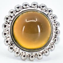 Beaded Edge Silver Tone Round Cabochon Color Changing Adjustable Mood Ring image 4