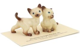 Hagen Renaker Miniature Cat Siamese Mama and Papag Ceramic Figurine Set image 7