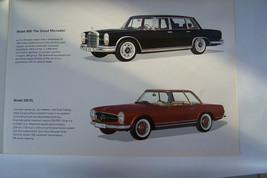 mercedes 230sl pagoda sales brochure 220 sec 300sec 600 limo new origina... - $12.32