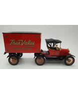 Ertl Die-Cast True Value Hardware Ford 1918 Tractor Trailer Bank 1:25 Sc... - $24.95