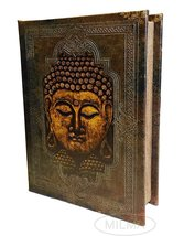 Buddha Book Stash Box Decorative Leather Book Box Storage Secret Book + Christma - $29.69