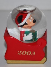 Christmas Mickey Mouse Mini Water Globe 2.5 Inc... - $17.54