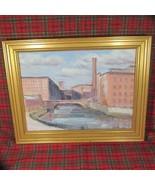 "1997 Oil Painting, Christos Calivas, ""Mill Town"" - $444.13"
