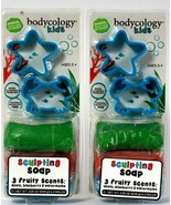 2 Bodycology Kids 2.25 Oz Smash Lather Apple Blueberry Watermelon Sculpt... - $18.99