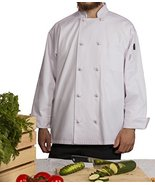 Chef's Pride Unisex Chef Coat – Double Breasted Long Sleeve Chef Jacket ... - $24.74