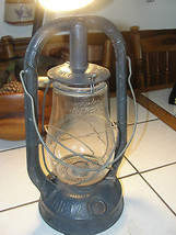 Old, vintage City of Milwaukee glass lantern, metal, Monarch, Dietz, ker... - $251.66