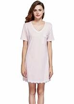 GUANYY Women's Nightgown Cotton Sleepshirt Sexy Lace Chemise Sleepwear M... - $18.14