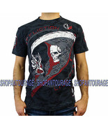 Affliction Tick Tock A13000 New Short Sleeve Skull Graphic T-shirt for Men - $48.01