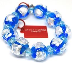 Bracelet Antica Murrina Venezia, Murano Glass, Spheres Large Light Blue image 1