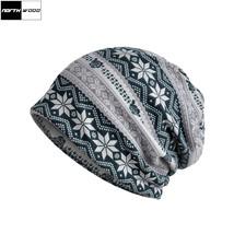Women Knitted Hats Fashion Print Beanie Women Skullies Scarf Hats Womens... - $22.47