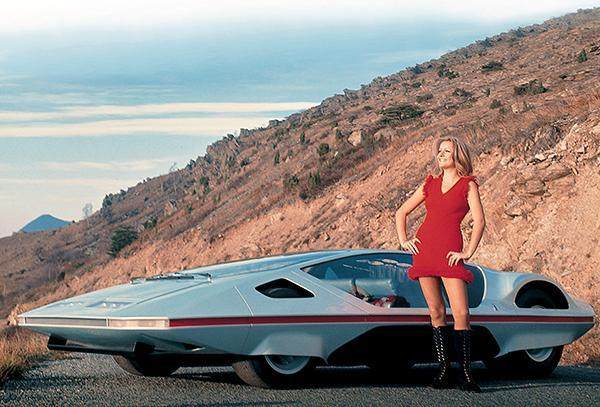 Primary image for 1970 Ferrari 512 S Modulo Concept Car - Promotional Photo Poster