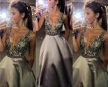 v neck sexy popular a line evening sparkly custom long prom dresses online pd0095 thumb155 crop