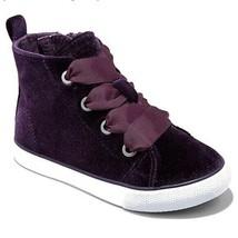 Cat & Jack Toddler Girls Jory Purple Velvet High Top Shoes Sneakers NEW