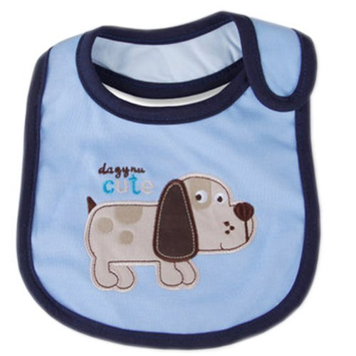 BLUE Baby Burp Cloths Infant Dribbler Nest Solutions Bibs Puppy Set of 3