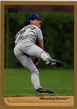 1999 Topps Baseball Card, #186, Jose Valentin, Milwaukee Brewers - $0.99