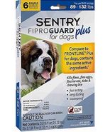 Sentry 6 Count Fiproguard Plus For Dogs Squeeze-on (89-132 pound) - $788,35 MXN