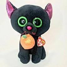 "Halloween Ty Beanie Boos 9"" Black Cat w/Pumpkin - Potion  - $19.99"