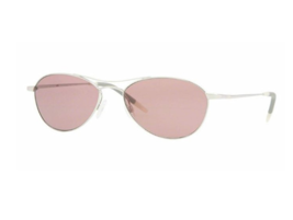 New OLIVER PEOPLES OV1005S AERO 50364R Silver/Horn Violet Gradient Sungl... - $138.59