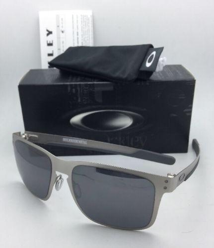 f88bc15324 12. 12. Previous. New Oakley Sunglasses HOLBROOK METAL OO4123-03 Satin  Chrome w Black Iridium Lens