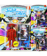 3 STAR TREK FIGURES GUINAN - LT. COMMANDER DEANNA TROI & COMMANDER SELA MIP - $9.95