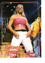 Britney Spears teen magazine pinup clipping white leather pants sexy girl Bop