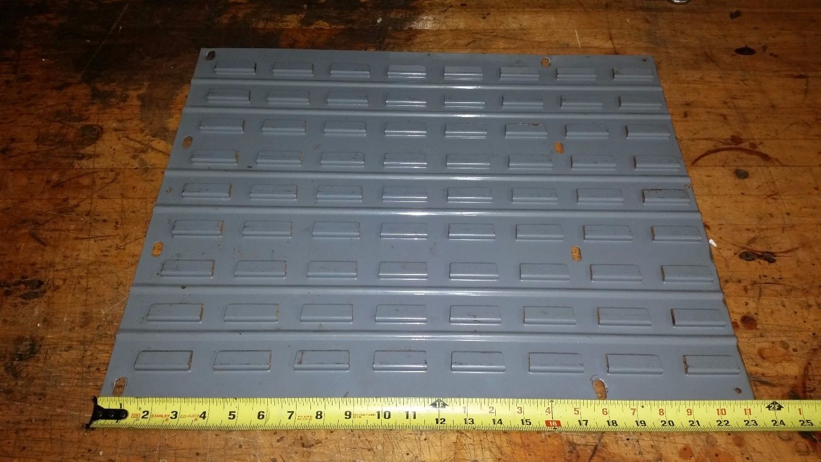Louvered Panel FOR HANGING PARTS STORAGE BINS CONTAINERS 19X24