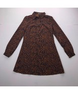 ​Fashion Union Women's Size 4 Brown Blue Long Sleeves Short Dress - $26.71