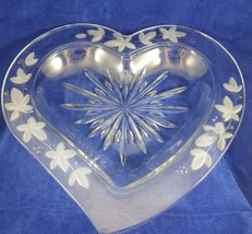 "Mikasa Garden Terrace 13"" Crystal Heart Platter Dish Discontinued NEW IN... - $14.99"