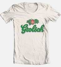 Grolsch T-shirt German beer Free Shipping 100% cotton graphic beige tee image 1