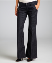 New Diesel Kees Dark Blue Stretch Denim Flared Trouser Jeans SZ 25 26 30... - $29.99