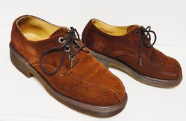 Doc Martens Dr England Shoes Oxfords Lace Up Maroon Wine Size 8 Rare - $89.95
