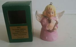 Vintage Goebel Angel Bell Ornament 1978 with Harp Pink Third Annual w/ box - $8.86