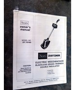 sears craftmans Electric Weedwacker 257.797900 Owner's Manual - $5.00